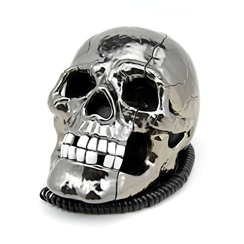 YY.LIFE New Style Creative Funny LED Flash Eyes Skull Skeleton Landline Tabletop Corded Telephone (Tabletop Skeleton compare prices)