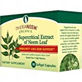 Theraneem Organix Supercritical Extract of Neem Leaf 30 Softgel Capsules