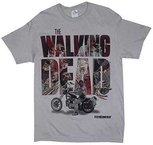 The Walking Dead Arrows in Zombies Men's Gray Shirt