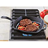 Lodge Logic L8SGP3 Pre-Seasoned Square Grill Pan