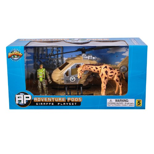 Rhode Island Novelty Giraffe Adventure POD Playset - 1