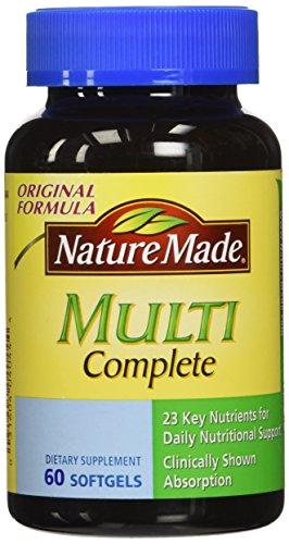 Nature Made Multi Complete Dietary Softgels Original Formula - 60 ct (Multivitamin Gel Caps compare prices)
