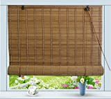 Bamboo Roll Up Window Blind Sun Shade W48