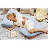 Today's Mom Cozy Cuddler Pregnancy Pillow, Sky Blue