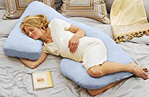 Today's Mom Cozy Cuddler Pregnancy Maternity Body Pillow, Sky Blue