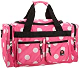 Rockland Luggage 19 Inch Tote Bag, Pink Dots, One Size