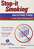 Natrabio Stop-it Smoking 2 Part Quit Smoking Kit, 108-Count