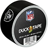 Duck Brand 281534 Oakland Raiders NFL Team Logo Duct Tape, 1.88-Inch by 10 Yards, Single Roll
