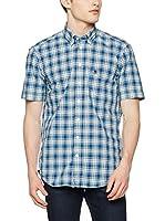 OTTO KERN Camisa Hombre (Azul / Verde / Beige)
