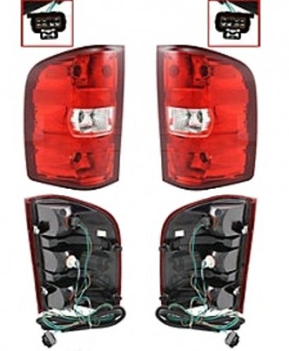 Discount Starter and Alternator GM2801207 GM2800207 Chevrolet Silverado Replacement Taillight Pair Plastic Lens With Bulbs (Alternator Chevrolet Silverado compare prices)