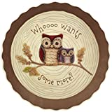Crimson Hollow Owl Pie Plate By Grasslands Road