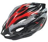 R-STYLE 自転車やスケボーに 軽量・蒸れない で最適 スタイリッシュ ヘルメット (レッド)