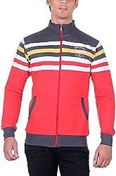 UCC Men's Fleece Regular Fit Sweatshirts (UCC6030RED-XL)