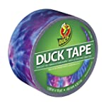 Duck Brand 1344909 Printed Duct Tape, Totally Tie Dye, 1.88 Inches x 10 Yards, Single Roll