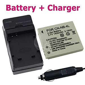 EXTENDED NB-4L NB4L Camera Battery + Charger for Canon