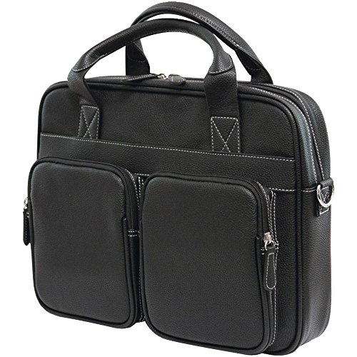 1 - 14.1 PC/15 MacBook(R)Tech Briefcase, Black, Fits laptops up to 14 & screens up to 15 for MacBook(R) , Adjustable, detachable should strap , Polyfur lined tablet pocket protects an iPad(R) or tablet
