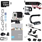 GoPro HERO3+ 10MP Full HD 1080p 60 fps Built-In Wi-Fi Waterproof Wearable Camera Silver Edition (Reporting Bundle)