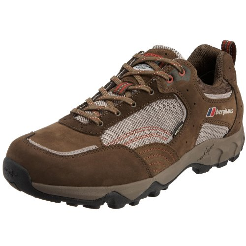 Berghaus Men's Explorer Trail Low GTX Hiking Shoe Brown/Burnt Red 80038 B6Q 10 UK