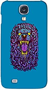 Dazzling 3D multicolor printed protective REBEL mobile back cover for Samsung Galaxy S4 I9500 - D.No-DEZ-1569-s4