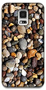 The Racoon Grip pebbles hard plastic printed back case / cover for Samsung Galaxy S5