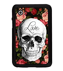 Love Skull 2D Hard Polycarbonate Designer Back Case Cover for Samsung Galaxy Tab 2 :: Samsung Galaxy Tab 2 P3100