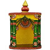 Wooden & Paper Mache Kundan Temple With Kundan Work