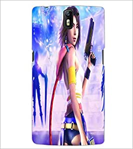 PRINTSWAG ACTION GIRL Designer Back Cover Case for ONE PLUS ONE