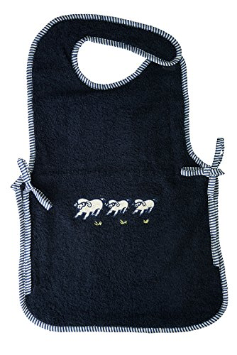 Abstract Baby Extra Large Waterproof Bib with Velcro Closure (15x24)