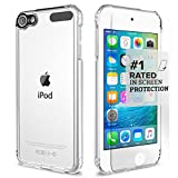 Apple iPod Touch 6th & 5th Generation Case, (Clear) SaharaCase Protective Kit includes [ZeroDamage Tempered Glass Screen Protector] Shock-Absorbing Bumper, Crystal Clear Scratch-Resistant Hard Back