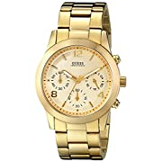 GUESS Women's Contemporary Gold-Tone Chronograph Watch U13578L1