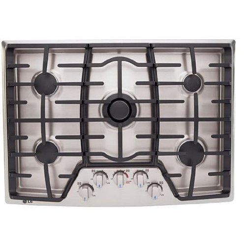 30 Gas Cooktops With Griddle http://zoncode.com/shop/lg-30-gas-cooktop-stainless-steel-55545/