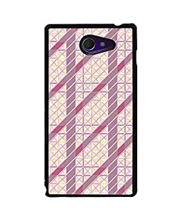Fuson Premium Prison Pattern Metal Printed with Hard Plastic Back Case Cover for Sony Xperia M2 Dual