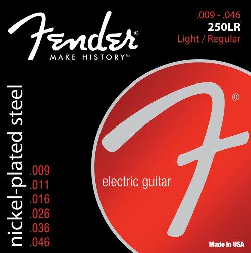 Fender 250Lr Nickel Plated Steel Electric Guitar Strings - Light/Regular