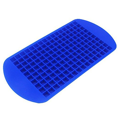 GTI Food Grade Silicone Ice Cubes Trays Candy Molds 160 Frozen Mini Cubes - Blue (Tiny Cube Ice Cube Tray compare prices)