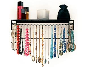 """Wire Jewelry and Accessories Rack (Black) (20""""H x 8""""W x 6""""D)"""