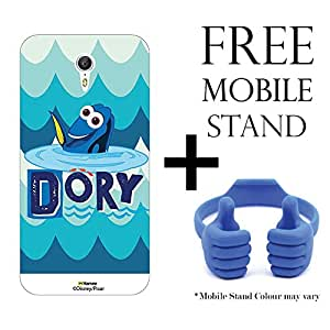 Hamee Disney Pixar Finding Dory Licensed Hard Back Case Cover For Lenovo ZUK Z1 Cover with Free Mobile Stand - Combo 8