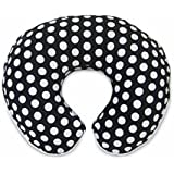 Boppy Pillow Slipcover, Plush Prints Black and White Dot