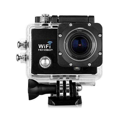 Floureon Q5 12MP 2.0 inch 170° HD Lens WIFI Sostegno 32GB Max HD DV Visione Notturna Action Sports Cam Camera Waterproof Full H264 Videocamera Subacquea DV Action Sport Video Camera (Nero)