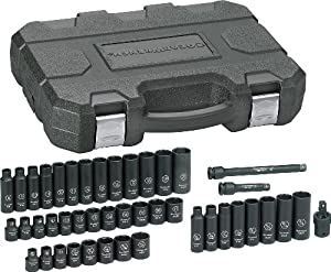 GearWrench 84916 3/8-Inch Drive Impact Socket Set SAE/Metric, 44-Piece by Danaher Tool Group