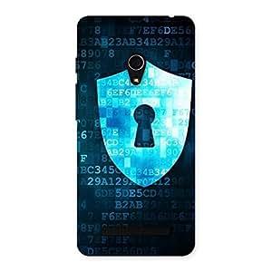 Premium Digital Secure Print Blue Back Case Cover for Zenfone 5