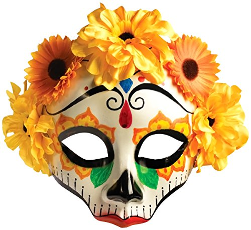 Forum Novelties Women's Day Of Dead Flower Skull Mask