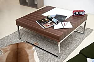 Accent Cocktail Coffee Table with Chrome Metal leg