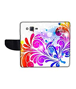 KolorEdge Printed Flip Cover For Samsung Galaxy On5 Multicolor - (1478-50KeMLogo12138SamOn5)