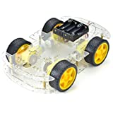 Emgreat 4-wheel Robot Smart Car Chassis Kits car with Speed Encoder for Arduino