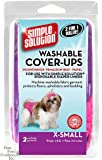 "Simple Solution Washable Diaper Cover-Ups, X-Small, ""Colors May Vary"", Pink/Purple or Blue/Black, Pack of 2"