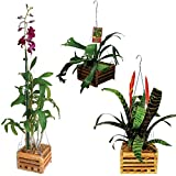 "8"" Natural Wooden Square Hanging Basket Outdoor Garden Planters (2-Pack)"