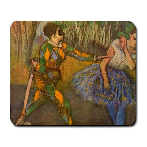 Harlequin and Columbine By Edgar Degas Mouse Pad