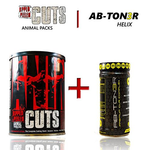 Animal Cuts, Ripped and Peeled Animal Training Pack, 42 Servings + Ab-ton3r - Stimulant-free Formula Designed to Help Target Abdominal Fat, Tighten Mid-section, and Lower Cholesterol (Ripped Pack compare prices)