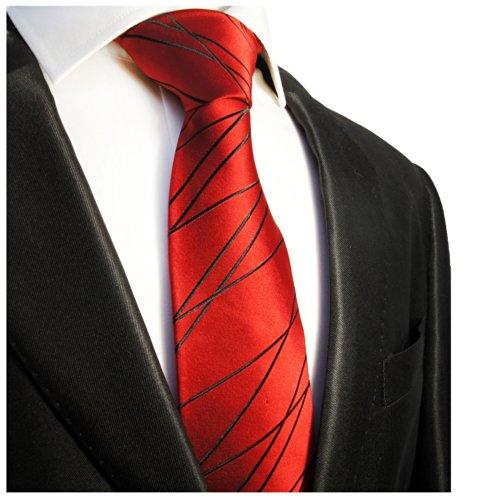 cravate homme rouge noire ray e 100 soie cravate. Black Bedroom Furniture Sets. Home Design Ideas