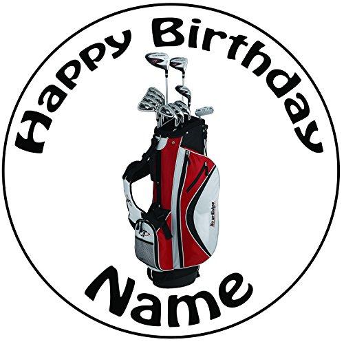 personalisierbar-golf-clubs-cake-topper-einem-vorgeschnittenen-rund-203-cm-20-cm-zuckerguss-dekorati